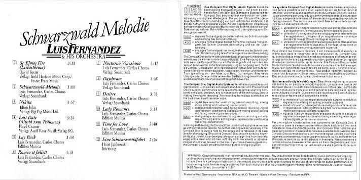 Cover innenseite Schwarzwald Melodie