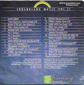 Erdenklang Musik VOL. 2 Rückseite